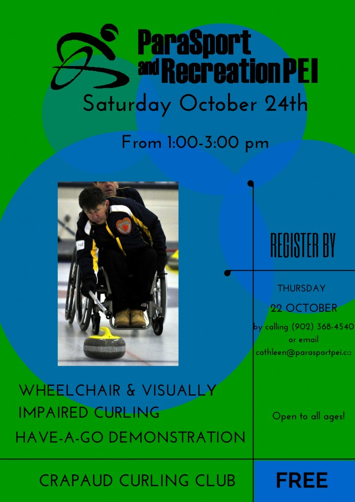 Free Wheelchair and Visually Impaired Curling Have-A-Go Demonstration @ Crapaud Community Curling Club | Prince Edward Island | Canada