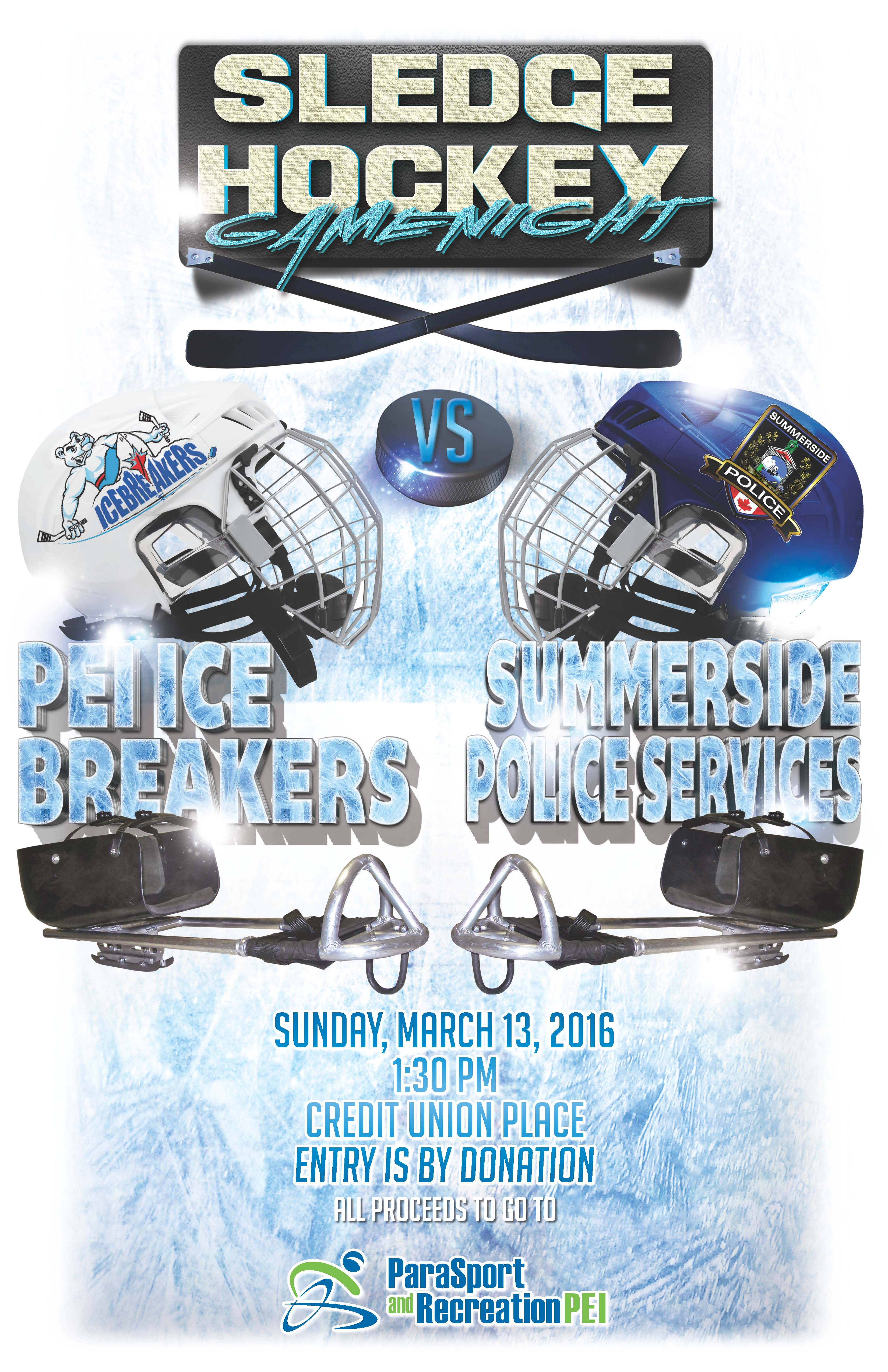 PEI Ice Breakers Vs Summerside Police Services