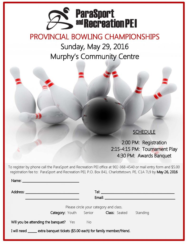 ParaSport and Recreation PEI Provincial Bowling Championships @ Murphy's Community Centre