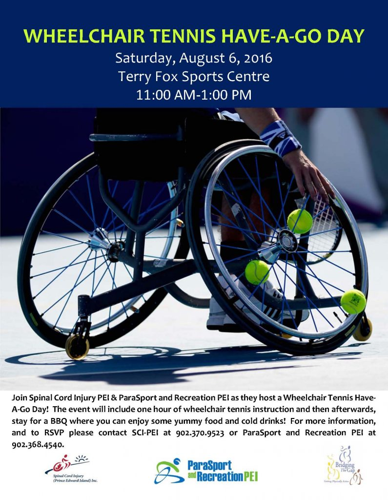 Wheelchair Tennis Have-A-Go Day & Social @ Terry Fox Sports Complex | Cornwall | Prince Edward Island | Canada
