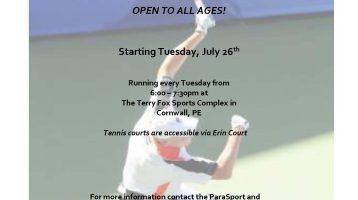 Wheelchair Tennis Program Information