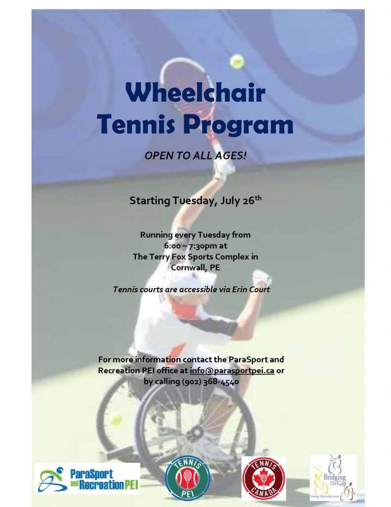 Wheelchair Tennis Program @ Terry Fox Sports Complex | Cornwall | Prince Edward Island | Canada