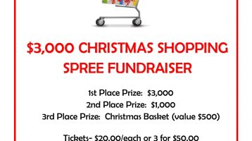 $3,000 Christmas Shopping Spree Fundraiser Set to Begin August 29th