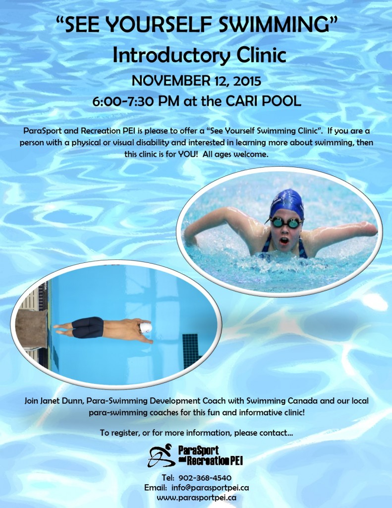 See Yourself Swimming Clinic 2015