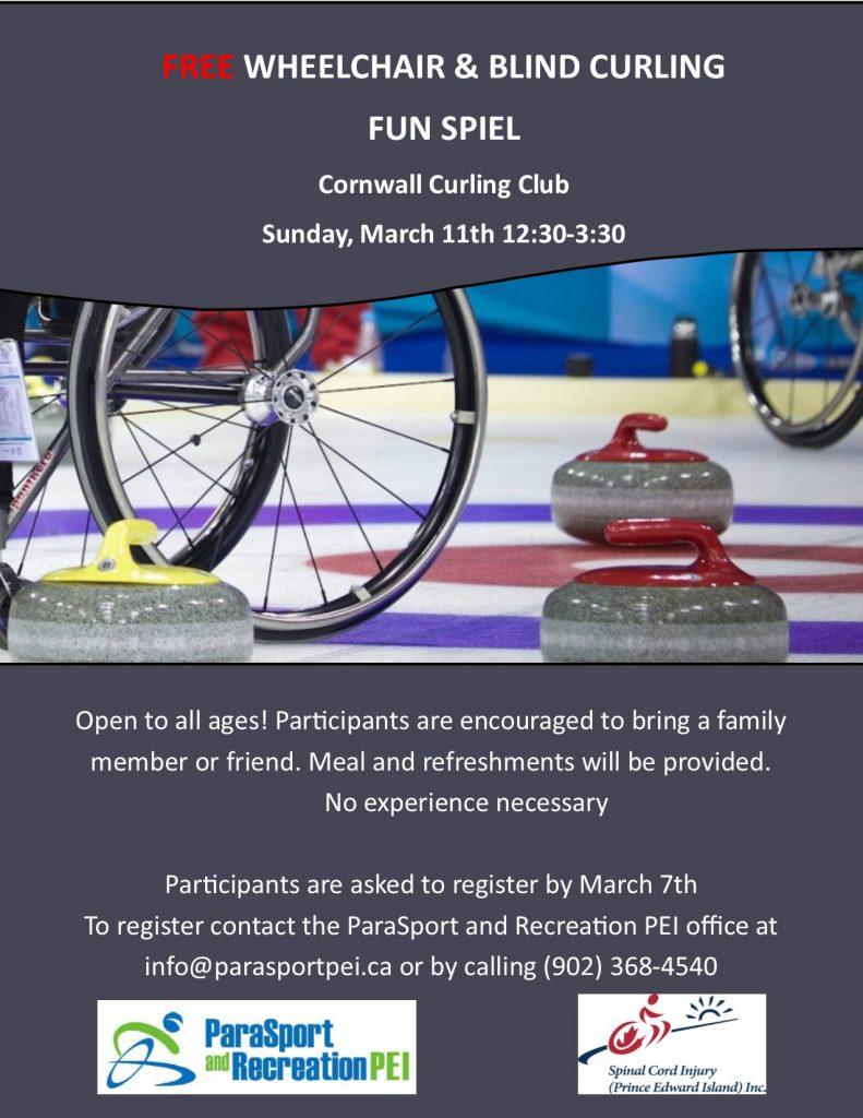 Wheelchair & Blind Curling Fun Spiel @ Cornwall Curling Club
