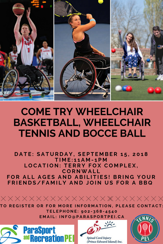 Come Try Wheelchair Basketball, Wheelchair Tennis and Bocce Ball